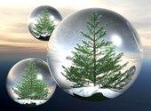 Décoration Boules fête de Noël Fonds d'écran