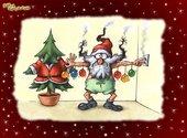 Père Noël électrocuté  Fonds d'écran