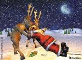 Père Noël alcoolique Fonds d'écran