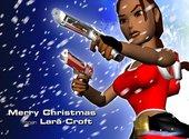 Lara Croft version mère Noël Fonds d'écran