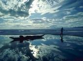 Reflet du ciel sur l'eau Fonds d'écran