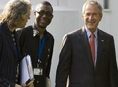 Bush et youssou ndour Photos