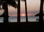 Coucher de soleil sur l'ocean indien Fonds d'écran