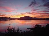 Crépuscule en baie de St Marie Fonds d'écran
