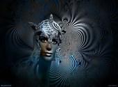 Femme fractale Dessins & Arts divers