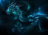 Dragon bleu Fonds d'écran