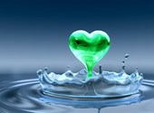 Water heart Fonds d'écran