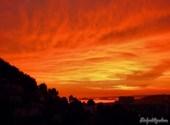 Coucher de soleil sur les îles de marseille Fonds d'écran